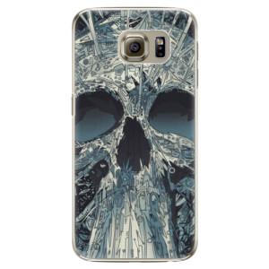 Plastové pouzdro iSaprio Abstract Skull na mobil Samsung Galaxy S6 Edge