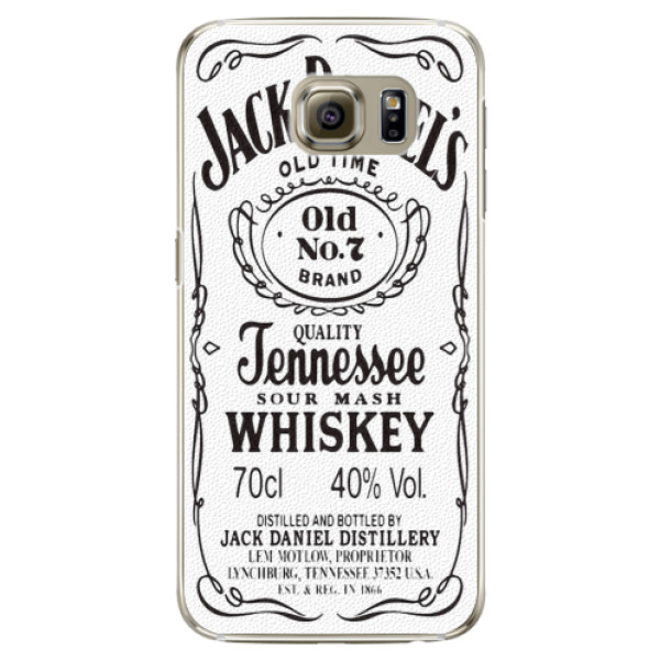 Plastové pouzdro iSaprio Jack White na mobil Samsung Galaxy S6 Edge (Plastový obal, kryt, pouzdro iSaprio Jack White na mobilní telefon Samsung Galaxy S6 Edge)