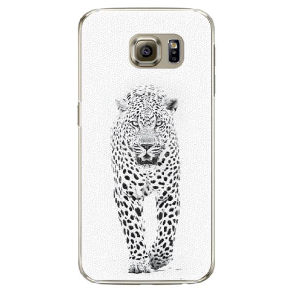 Plastové pouzdro iSaprio white Jaguar na mobil Samsung Galaxy S6 Edge (Plastový obal, kryt, pouzdro iSaprio white Jaguar na mobilní telefon Samsung Galaxy S6 Edge)