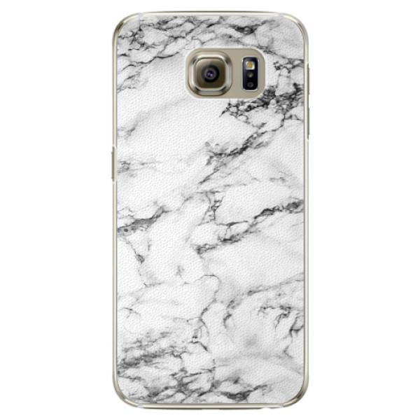 Plastové pouzdro iSaprio white Marble 01 na mobil Samsung Galaxy S6 Edge (Plastový obal, kryt, pouzdro iSaprio white Marble 01 na mobilní telefon Samsung Galaxy S6 Edge)