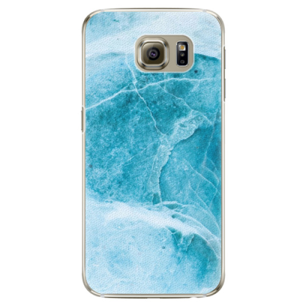 Plastové pouzdro iSaprio Blue Marble na mobil Samsung Galaxy S6 Edge