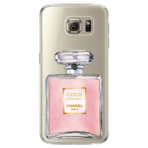 Plastové pouzdro iSaprio Chanel Rose na mobil Samsung Galaxy S6 Edge