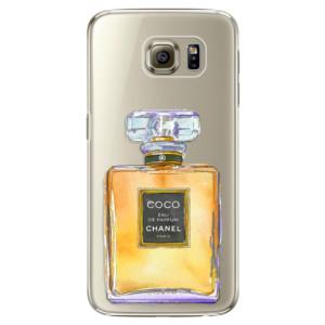 Plastové pouzdro iSaprio Chanel Gold na mobil Samsung Galaxy S6 Edge