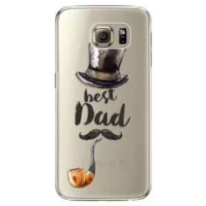 Plastové pouzdro iSaprio Best Dad na mobil Samsung Galaxy S6 Edge