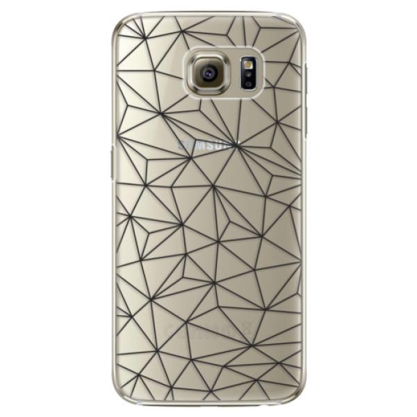 Plastové pouzdro iSaprio Abstract Triangles 03 black na mobil Samsung Galaxy S6 Edge (Plastový obal, kryt, pouzdro iSaprio Abstract Triangles 03 black na mobilní telefon Samsung Galaxy S6 Edge)