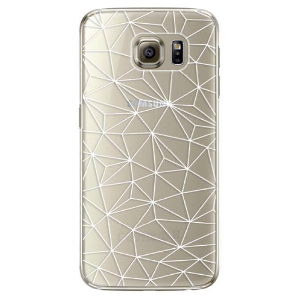 Plastové pouzdro iSaprio Abstract Triangles 03 white na mobil Samsung Galaxy S6 Edge (Plastový obal, kryt, pouzdro iSaprio Abstract Triangles 03 white na mobilní telefon Samsung Galaxy S6 Edge)