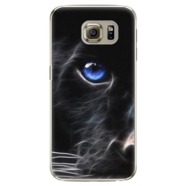 Plastové pouzdro iSaprio Black Puma na mobil Samsung Galaxy S6 Edge (Plastový obal, kryt, pouzdro iSaprio Black Puma na mobilní telefon Samsung Galaxy S6 Edge)
