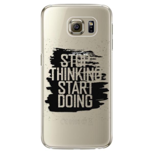 Plastové pouzdro iSaprio Start Doing black na mobil Samsung Galaxy S6 Edge (Plastový obal, kryt, pouzdro iSaprio Start Doing black na mobilní telefon Samsung Galaxy S6 Edge)