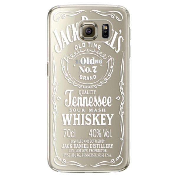 Plastové pouzdro iSaprio Transparent White Jack na mobil Samsung Galaxy S6 Edge (Plastový obal, kryt, pouzdro iSaprio Transparent White Jack na mobilní telefon Samsung Galaxy S6 Edge)