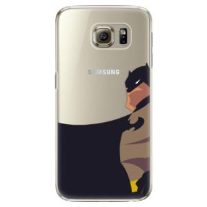 Plastové pouzdro iSaprio BaT Comics na mobil Samsung Galaxy S6 Edge