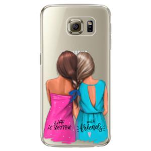 Plastové pouzdro iSaprio Best Friends na mobil Samsung Galaxy S6 Edge