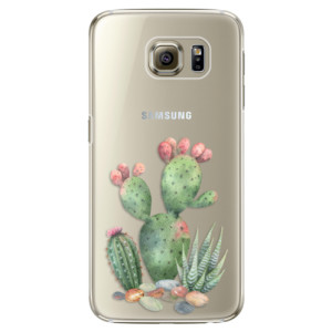 Plastové pouzdro iSaprio Cacti 01 na mobil Samsung Galaxy S6 Edge