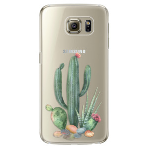 Plastové pouzdro iSaprio Cacti 02 na mobil Samsung Galaxy S6 Edge