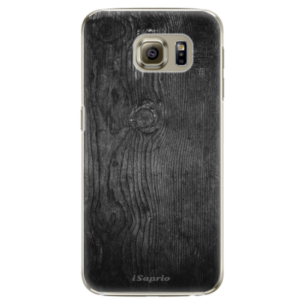 Plastové pouzdro iSaprio Black Wood 13 na mobil Samsung Galaxy S6 Edge Plus (Plastový obal, kryt, pouzdro iSaprio Black Wood 13 na mobilní telefon Samsung Galaxy S6 Edge Plus)
