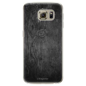 Plastové pouzdro iSaprio Black Wood 13 na mobil Samsung Galaxy S6 Edge Plus