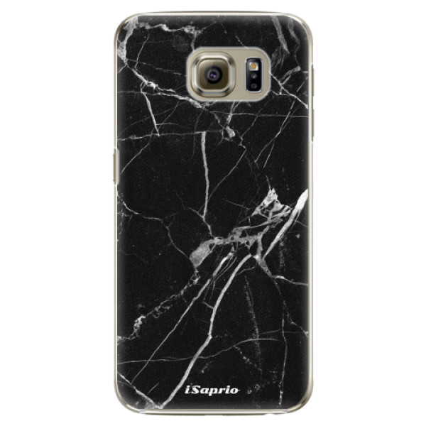 Plastové pouzdro iSaprio Black Marble 18 na mobil Samsung Galaxy S6 Edge Plus (Plastový obal, kryt, pouzdro iSaprio Black Marble 18 na mobilní telefon Samsung Galaxy S6 Edge Plus)