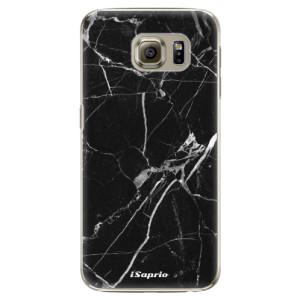 Plastové pouzdro iSaprio Black Marble 18 na mobil Samsung Galaxy S6 Edge Plus