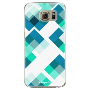 Plastové pouzdro iSaprio Abstract Squares 11 na mobil Samsung Galaxy S6 Edge Plus