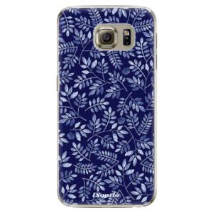 Plastové pouzdro iSaprio Blue Leaves 05 na mobil Samsung Galaxy S6 Edge Plus