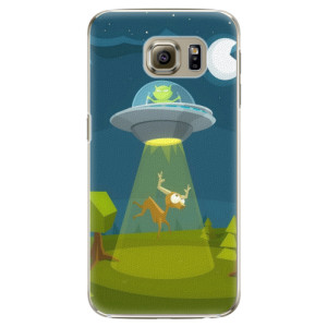 Plastové pouzdro iSaprio Alien 01 na mobil Samsung Galaxy S6 Edge Plus