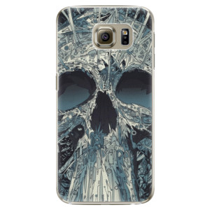 Plastové pouzdro iSaprio Abstract Skull na mobil Samsung Galaxy S6 Edge Plus