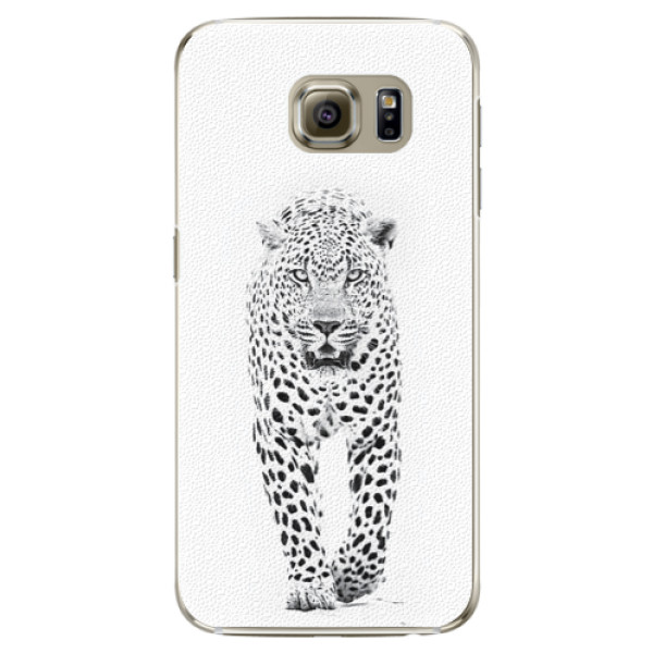 Plastové pouzdro iSaprio white Jaguar na mobil Samsung Galaxy S6 Edge Plus (Plastový obal, kryt, pouzdro iSaprio white Jaguar na mobilní telefon Samsung Galaxy S6 Edge Plus)