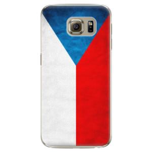 Plastové pouzdro iSaprio Czech Flag na mobil Samsung Galaxy S6 Edge Plus