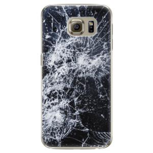 Plastové pouzdro iSaprio Cracked na mobil Samsung Galaxy S6 Edge Plus