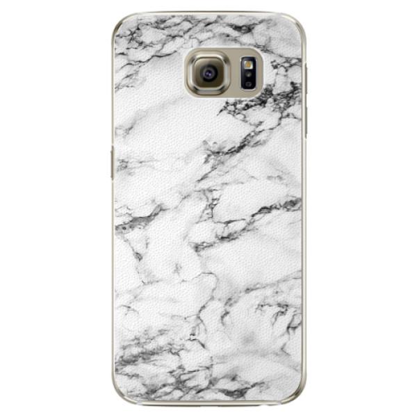 Plastové pouzdro iSaprio white Marble 01 na mobil Samsung Galaxy S6 Edge Plus (Plastový obal, kryt, pouzdro iSaprio white Marble 01 na mobilní telefon Samsung Galaxy S6 Edge Plus)