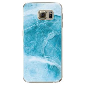 Plastové pouzdro iSaprio Blue Marble na mobil Samsung Galaxy S6 Edge Plus