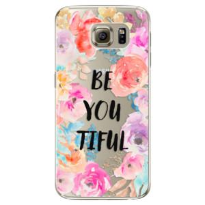 Plastové pouzdro iSaprio BeYouTiful na mobil Samsung Galaxy S6 Edge Plus