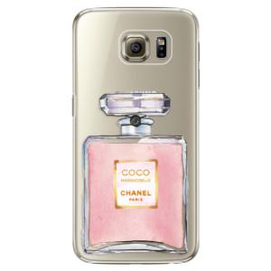 Plastové pouzdro iSaprio Chanel Rose na mobil Samsung Galaxy S6 Edge Plus