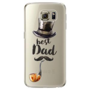 Plastové pouzdro iSaprio Best Dad na mobil Samsung Galaxy S6 Edge Plus