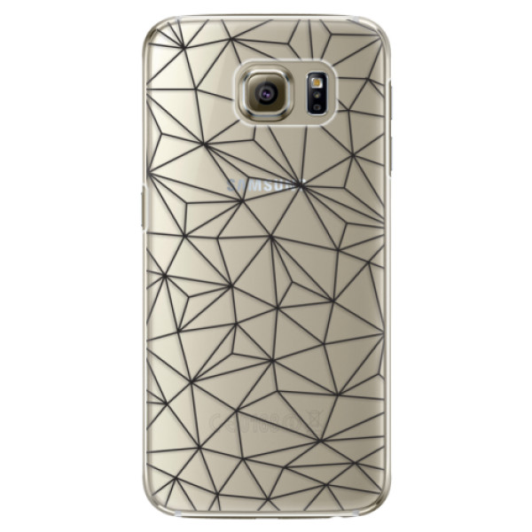 Plastové pouzdro iSaprio Abstract Triangles 03 black na mobil Samsung Galaxy S6 Edge Plus (Plastový obal, kryt, pouzdro iSaprio Abstract Triangles 03 black na mobilní telefon Samsung Galaxy S6 Edge Plus)