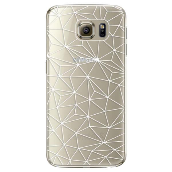 Plastové pouzdro iSaprio Abstract Triangles 03 white na mobil Samsung Galaxy S6 Edge Plus (Plastový obal, kryt, pouzdro iSaprio Abstract Triangles 03 white na mobilní telefon Samsung Galaxy S6 Edge Plus)