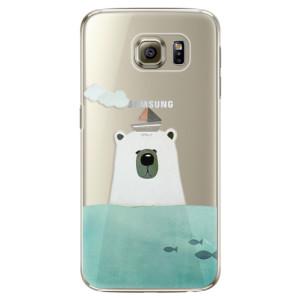 Plastové pouzdro iSaprio Bear With Boat na mobil Samsung Galaxy S6 Edge Plus