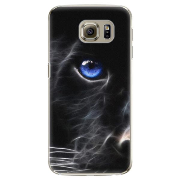 Plastové pouzdro iSaprio Black Puma na mobil Samsung Galaxy S6 Edge Plus (Plastový obal, kryt, pouzdro iSaprio Black Puma na mobilní telefon Samsung Galaxy S6 Edge Plus)