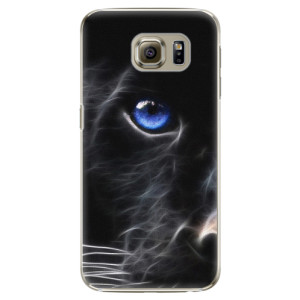 Plastové pouzdro iSaprio Black Puma na mobil Samsung Galaxy S6 Edge Plus