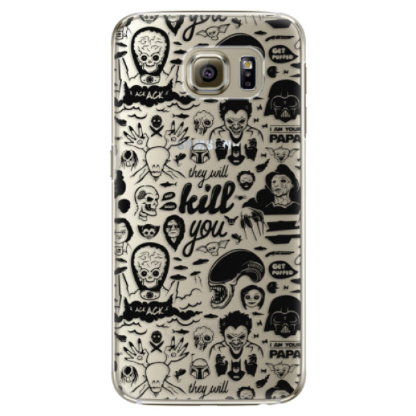 Plastové pouzdro iSaprio Comics 01 black na mobil Samsung Galaxy S6 Edge Plus (Plastový obal, kryt, pouzdro iSaprio Comics 01 black na mobilní telefon Samsung Galaxy S6 Edge Plus)