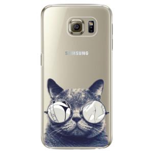 Plastové pouzdro iSaprio Crazy Cat 01 na mobil Samsung Galaxy S6 Edge Plus