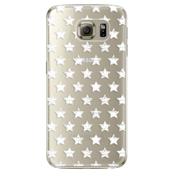Plastové pouzdro iSaprio Stars Pattern white na mobil Samsung Galaxy S6 Edge Plus (Plastový obal, kryt, pouzdro iSaprio Stars Pattern white na mobilní telefon Samsung Galaxy S6 Edge Plus)