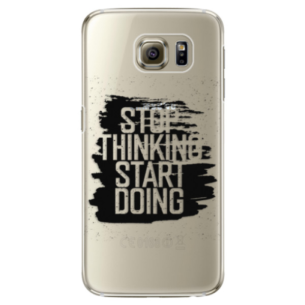 Plastové pouzdro iSaprio Start Doing black na mobil Samsung Galaxy S6 Edge Plus (Plastový obal, kryt, pouzdro iSaprio Start Doing black na mobilní telefon Samsung Galaxy S6 Edge Plus)