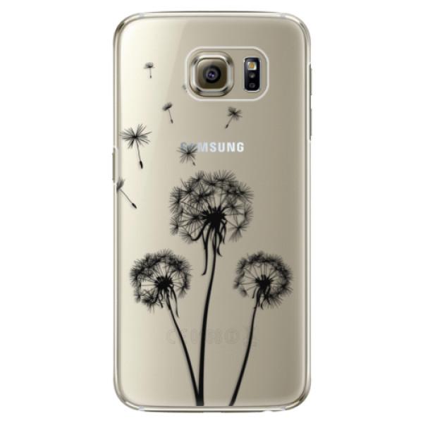 Plastové pouzdro iSaprio Three Dandelions black na mobil Samsung Galaxy S6 Edge Plus (Plastový obal, kryt, pouzdro iSaprio Three Dandelions black na mobilní telefon Samsung Galaxy S6 Edge Plus)
