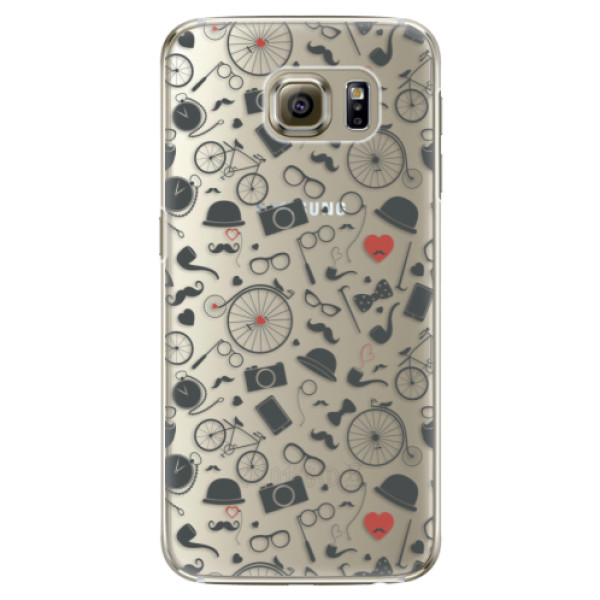 Plastové pouzdro iSaprio Vintage Pattern 01 black na mobil Samsung Galaxy S6 Edge Plus (Plastový obal, kryt, pouzdro iSaprio Vintage Pattern 01 black na mobilní telefon Samsung Galaxy S6 Edge Plus)