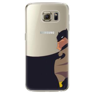 Plastové pouzdro iSaprio BaT Comics na mobil Samsung Galaxy S6 Edge Plus