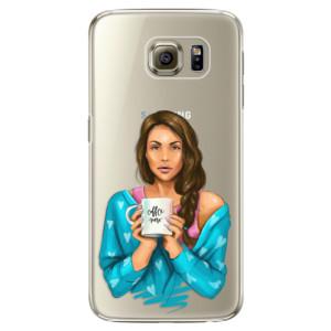 Plastové pouzdro iSaprio Coffe Now Brunette na mobil Samsung Galaxy S6 Edge Plus