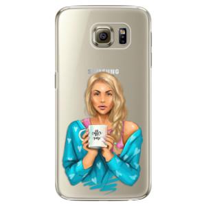Plastové pouzdro iSaprio Coffe Now Blond na mobil Samsung Galaxy S6 Edge Plus