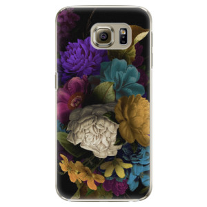 Plastové pouzdro iSaprio Dark Flowers na mobil Samsung Galaxy S6 Edge Plus