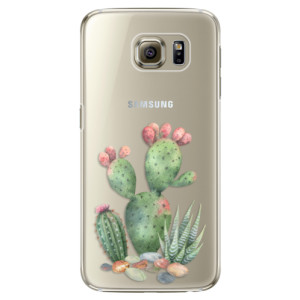 Plastové pouzdro iSaprio Cacti 01 na mobil Samsung Galaxy S6 Edge Plus