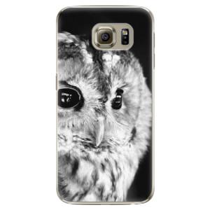 Plastové pouzdro iSaprio BW Owl na mobil Samsung Galaxy S6 Edge Plus